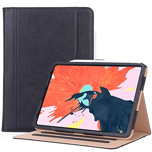 ProCase iPad Pro 11 Case 2018, Vintage Stand Folio Cover Protective Case for iPad Pro 11 inch 2018 Release, Support Apple Pencil Charging -Black