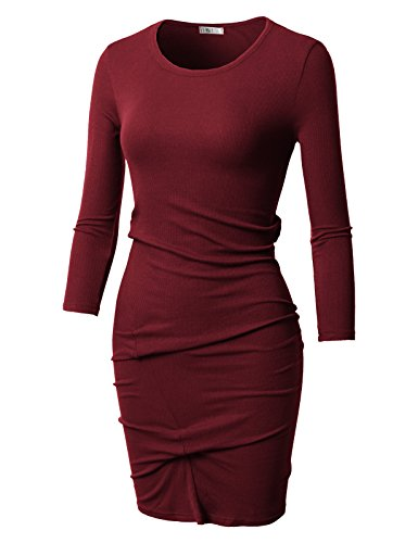 Ruched Surplice Dress - 9