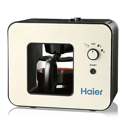 Haier Brew and Grind Automatic Grinding Coffee Makers 4 Cup Capacity Keep Warm Function and Easy to Clean