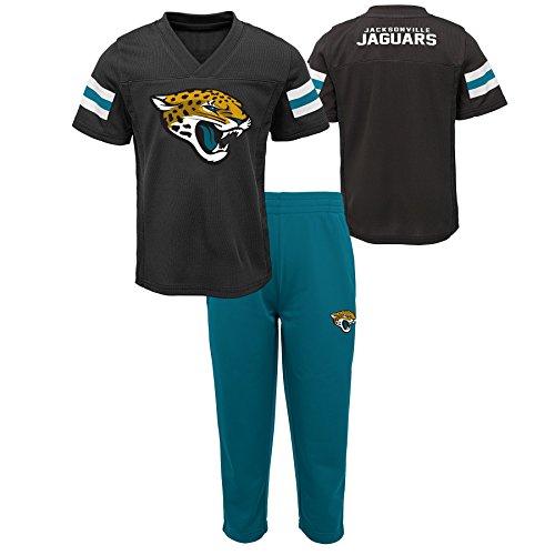 Outerstuff NFL NFL Jacksonville Jaguars Infant Training Camp Short Sleeve Top & Pant Set Black, 12 Months