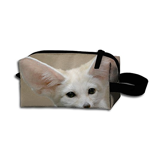 Makeup Cosmetic Bag Cute Fox Animals Zip Travel Portable Storage Pouch For Men Women]()