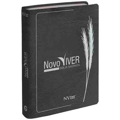 Bíblia Sagrada Novo Viver NVI - Luxo Cinza Grafite