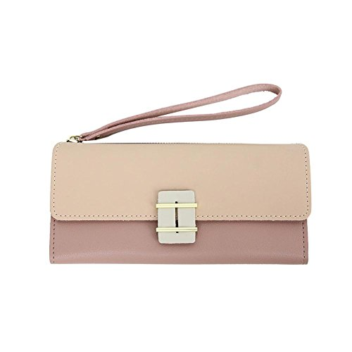Leather Hasp Wallet Pink Women Lady Everpert Purse Elegant Wristlets Long Clutch Handbags q1tp6npw