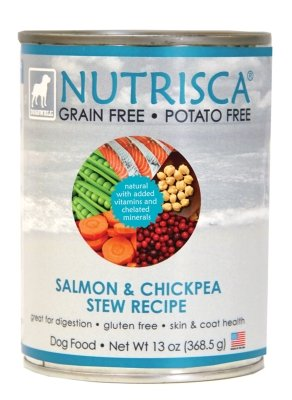 DOGSWELL – NUTRISCA CAN SALMON/CHICKPEA STEW Case 12/13OZ, My Pet Supplies