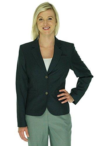 Calvin-Klein-Womens-Pinstripe-Long-Sleeves-Two-Button-Blazer