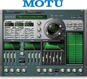 MOTU MX4 Version 2 Multi Synthesizer Virtual Instrument (Mac Only)
