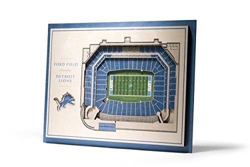 - NFL Detroit Lions 5-Layer Stadiumviews 3D Wall Art
