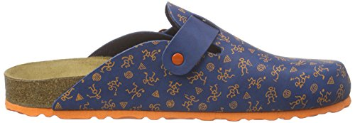 LicoBioline Clog Kids - pantuflas con forro Niños Azul - Blau (blau/orange)