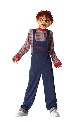 Guys And Dolls Costumes (Costume Culture Licensed Chucky Boy's Costume, Blue, X-Large)
