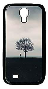 Galaxy S4 Case, Unique Design PC Hard Black A Tree Case Cover for Samsung Galaxy S4