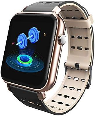 RanGuo Montre Connectée pour Hommes Femmes Enfants, Sports de Plein air Smart Watch IP68 Etanche pour système Android et iOS, Sangle en Silicone, ...