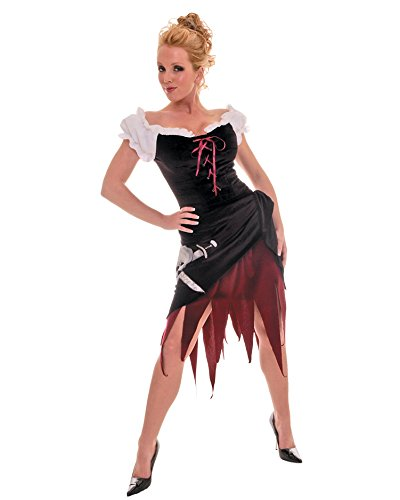 Womens Sexy Simple Pirate Costume Wench Theatre Costumes Pirate Skull 2 Pc Sizes: (Wench Costume Ideas)