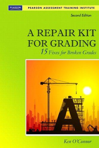Repair Kit for Grading, 10 Pack (2nd Edition) (Assessment Training Institute, Inc.)