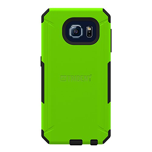 TRIDENT Phone Case for Samsung Galaxy S 6 Aegis - Retail Packaging - Green