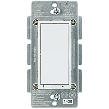 New Model : GE Z-Wave Plus Wireless Smart Lighting Control Smart Dimmer, In-Wall, Includes White & Light Almond Paddles, Works with Amazon Alexa (Hub Required), 14294