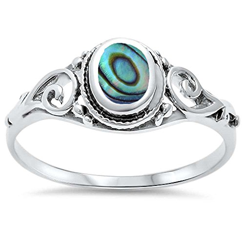 Oxford Diamond Co .925 Sterling Silver Turquoise, Abalone,, used for sale  Delivered anywhere in USA