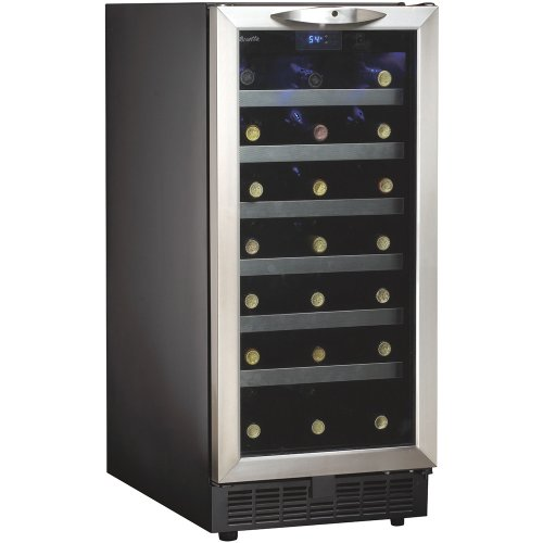 Danby DWC1534BLS 3.7 Cu. Ft. 34-Bottle Silhouette Wine Cooler - Black/Stainless (34 Bottle Wine Cellar)