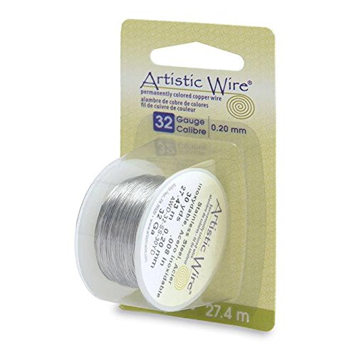 Artistic Craft Wire Non Tarnish Stainless Steel Finish 32 Gauge - 30 ()