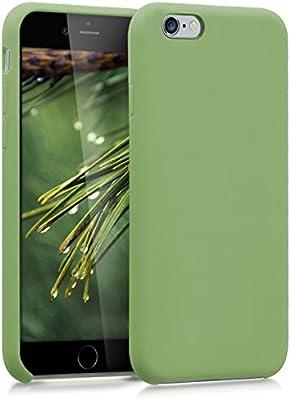 kwmobile Funda compatible con Apple iPhone 6 / 6S - Carcasa de [TPU] para móvil - Cover [trasero] en [verde claro]