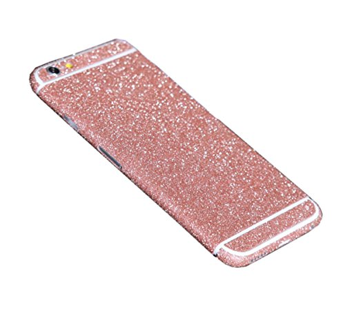 iPhone 7 case ,Gravydeals Luxury Bling Sticker Decal Glitter Front & Back Scratch Resistant Super-thin Tough Skin for Apple iPhone 7 (4.7 Inch) Pink Film