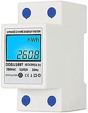 Tomshin Digital de Energia Elétrica Medidor Monofásico DIN Rail Electricidade Medidor de uma fase dois fios multifunções medidor elétrico