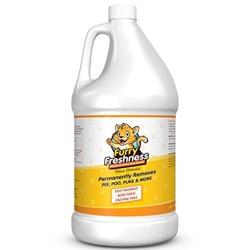 FurryFreshness Premium Pet Stain & Smell Remover - Feline Formula (Gallon)