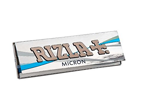 (50 Booklets Rizla Micron Regular Size Cigarette - Tobacco Rolling Papers)