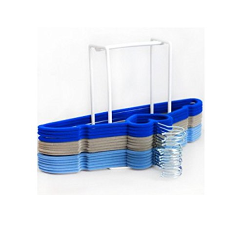 Clothes Hanger Holder Storage Organiser Caddy Rack Laundry SELFORGANISER:  Amazon.co.uk: Kitchen U0026 Home