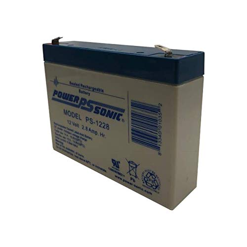 Powersonic PS-1228 12V, 2.8 AH Rechargeable Lead Acid Battery