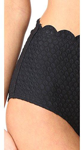 Kate Spade New York Women's Marina Piccola High Waist Bikini Bottoms, Black, Small