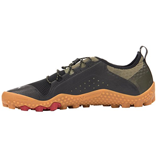 Vivobarefoot Mens Primus Trail Soft Ground Mesh Trainers Olive