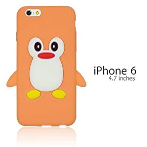 OnlineBestDigital - Penguin Style Soft Silicone Case for Apple iPhone 6 (4.7 inch)Smartphone - Orange