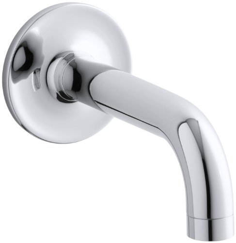 KOHLER K-14427-CP Purist Wall-Mount Non-Diverter Bath Spout, 90 Degrees, Polished Chrome Cp Wall Mount Tub Faucet