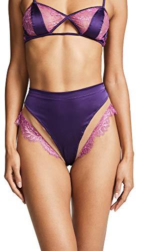For Love & Lemons Women's Georgi High Waist Panties, Fuchsia, Medium