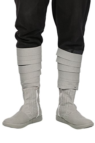 Cosplayrim Luke Shoes Gray Skywalker Cow Suede Ankle-boots SW Cosplay -
