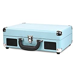 Victrola VSC-550BT-TQ Bluetooth Suitcase Turntable 3 Speed (Turquoise) Hi-Fi and Home Audio classic