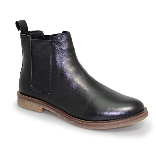 Black Boots Teresa Womens Chelsea Lunar Leather qXSYwxz