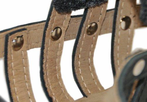Dean & Tyler D&T Royal Muzzle GSD Royal Leather Padded Muzzle, German Shepherd, Black by Dean & Tyler (Image #2)