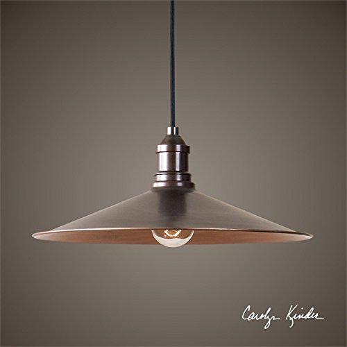 Black And Copper Pendant Light - 5