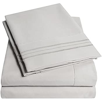 Amazon.com: HC COLLECTION-Hotel Luxury Bed Sheets Set 1800 Series ...