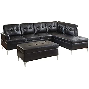 Amazon Com Homelegance 3 Piece Tufted Accent Sectional