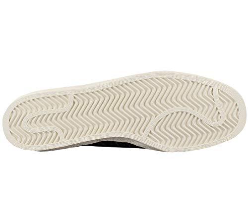 80s adulto Nero Adidas Superstar Sneakers Pelle Unisex Nero tPAtB1qwx