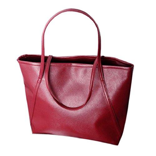 Fami Bag capacité en Rouge grande femmes Messenger Hiver cuir rr4TSU7
