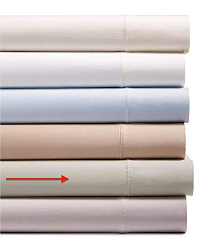 AQ Textiles 4 Piece King Sheet Set, 700 Thread Count Tencel Blend Bedding Silver