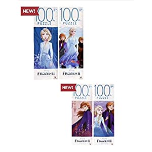 Disney Frozen 2 100 Piece Jigsaw Puzzle Gift Set(Set of 4)