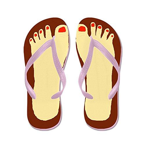 Cafepress Lelijke Voeten - Flip Flops, Grappige String Sandalen, Strand Sandalen Roze