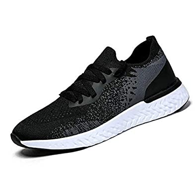 QZX Men s Slip on Shoes Black White Grey Non Slip Outdoor Sneakers Walking Athletic Workout Shoes Casual Fashion Lightweight Shoes for Men