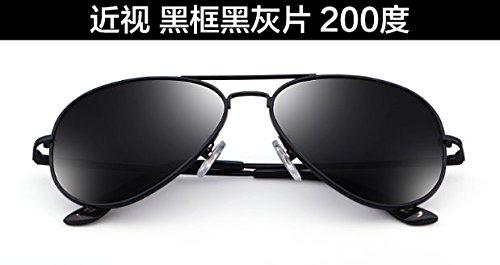 marea Degrees sol 200 MS sol Ash de pionero negras de Gafas Frame Black Komny polarizadas gafas de sol negro Gafas marco cenizas grados con gafas Black Gafas 100 xpqcZf