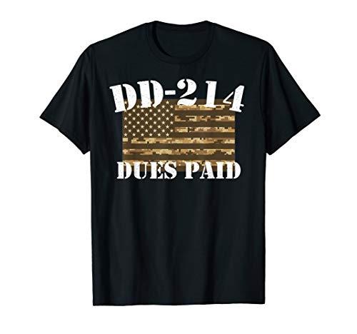 (Military DD-214 Shirt Vintage DD214 Dues Paid Tee)