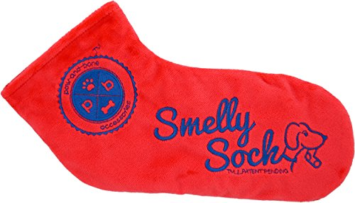 The Smelly Sock - Patent Pending Crinkle Dog Toy, Large S...